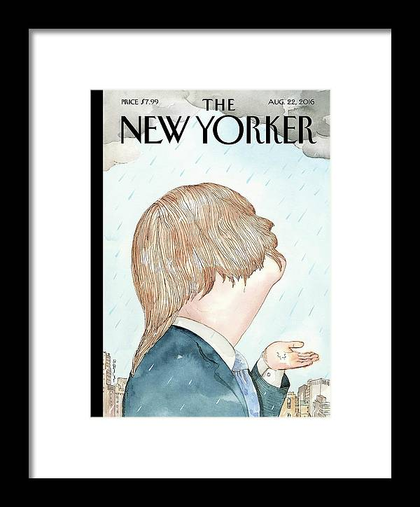 Hillary Clinton Framed Print featuring the painting Donald's Rainy Days by Barry Blitt