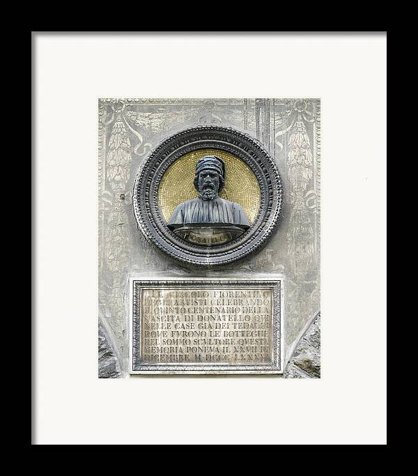 2005 Framed Print featuring the photograph Donatello by Karen Stephenson