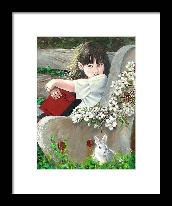Alice In Wonderland Framed Print featuring the painting Donna Renee Mc Cann as ALICE by JoAnne Castelli-Castor