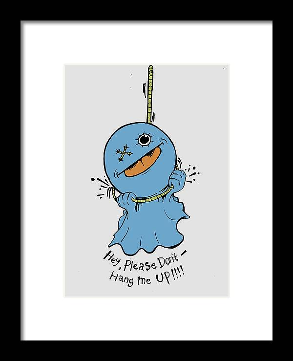 Blue Framed Print featuring the digital art Don't Hang Me Up by Murni Ch