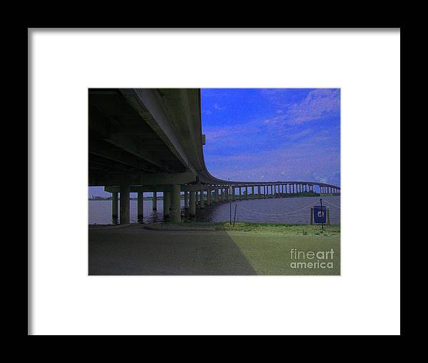 Bridges Framed Print featuring the photograph Don't Hesitate Just Go by Brian Corbel