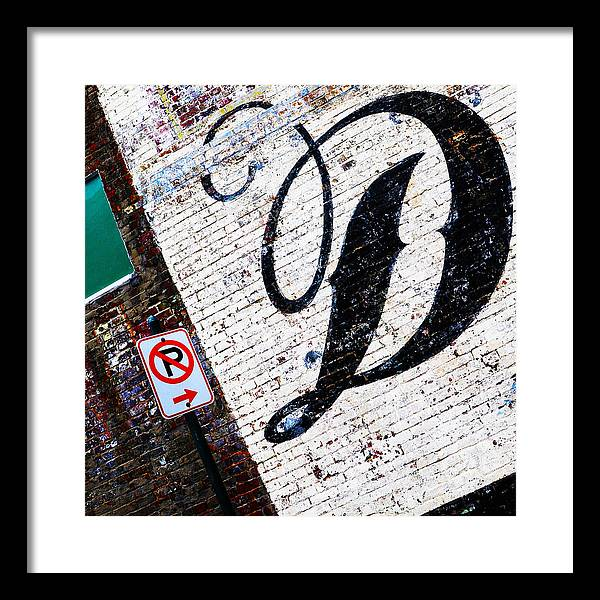 Brick Walls Framed Print featuring the photograph DON'T park by Leon Hollins III