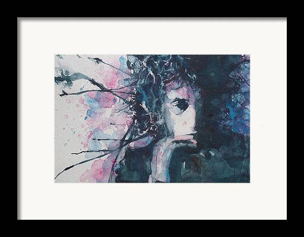 Bob Dylan Framed Print featuring the painting Don't Think Twice It's Alright by Paul Lovering