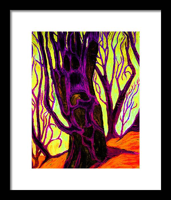 Expressionistic Framed Print featuring the painting Doom And Gloom by Starr Lunaar