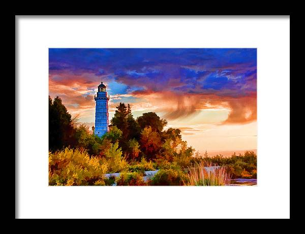 Cana Island Framed Print featuring the painting Door County Cana Island Wisp by Christopher Arndt