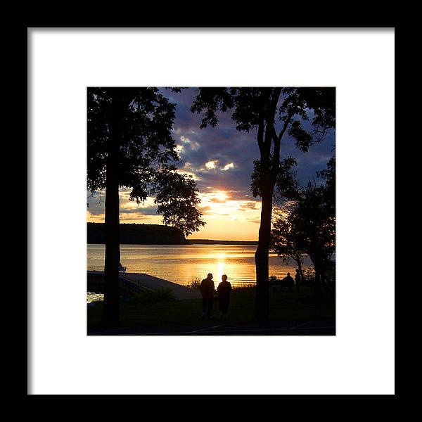 Sunset Framed Print featuring the photograph Door Peninsula Sunset by David T Wilkinson