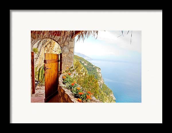 Door Framed Print featuring the photograph Door To Paradise by Susan Schmitz