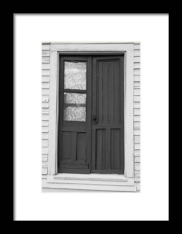 Door Framed Print featuring the photograph Door To The Past by Lynne Jenkins