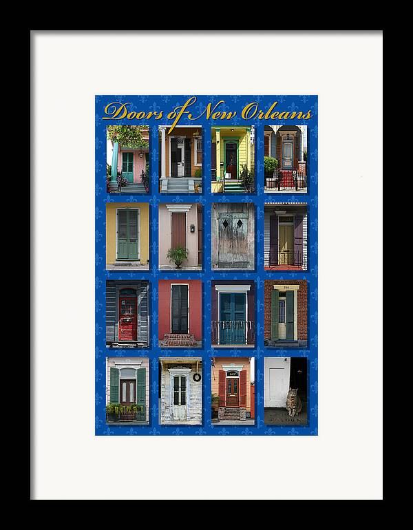 New Orleans Framed Print featuring the photograph Doors Of New Orleans by Heidi Hermes