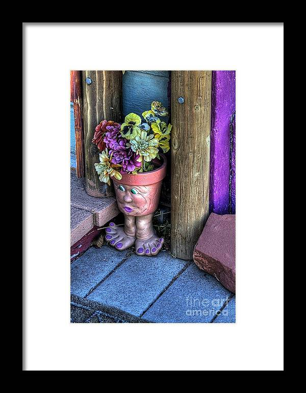 Diana Graves Photography Framed Print featuring the photograph Doorstep Treasures by K D Graves