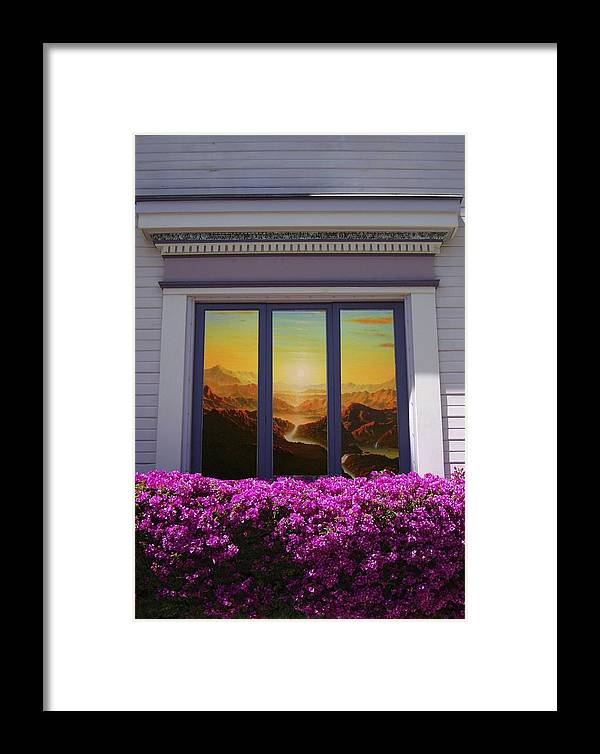 Mandala Sun Framed Print featuring the mixed media Doorway 21 by Karma Moffett