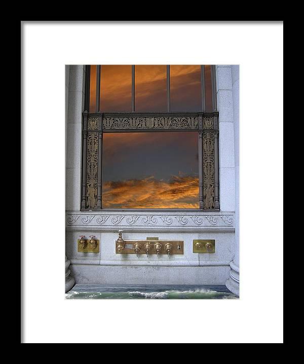 Mandala Sun Framed Print featuring the mixed media Doorway 25 by Karma Moffett
