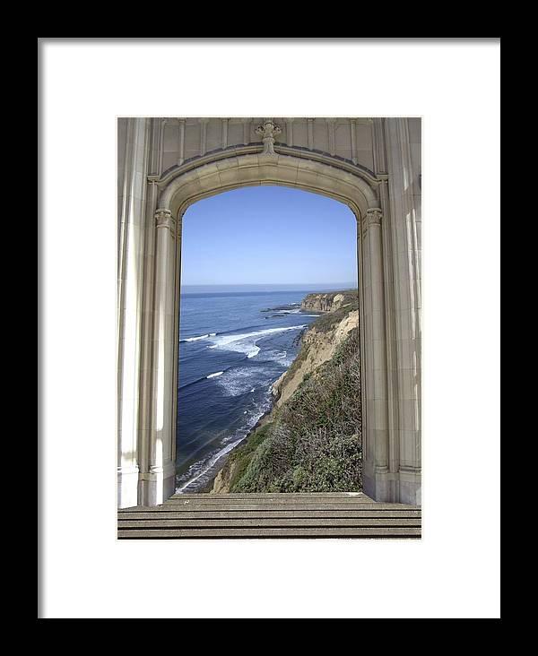 Mandala Sun Framed Print featuring the mixed media Doorway 34 by Karma Moffett