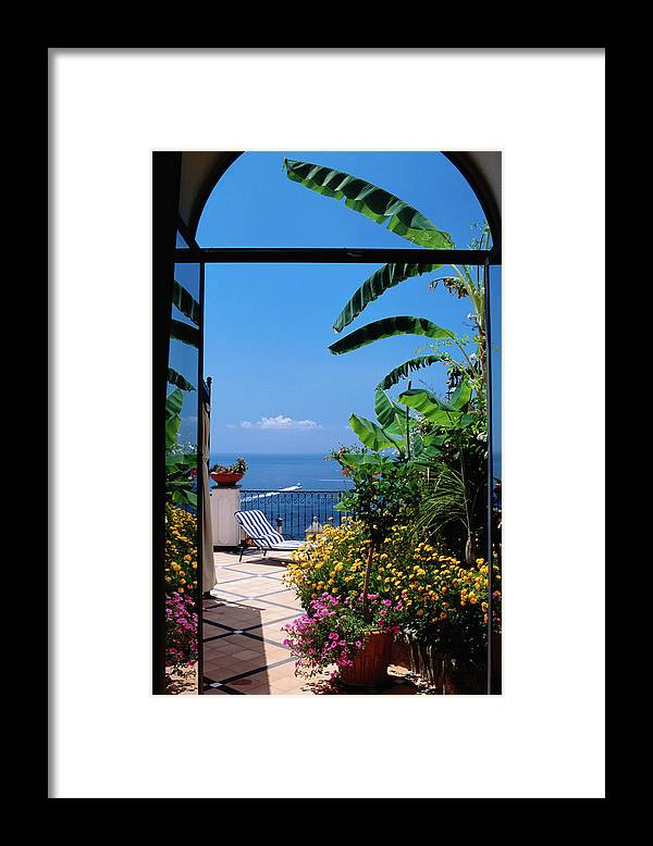 Tranquility Framed Print featuring the photograph Doorway To Terrace At Hotel Punta by Dallas Stribley