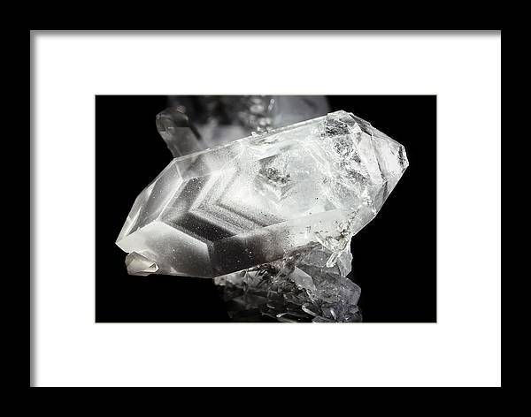 Quartz Framed Print featuring the photograph Double-ended Quartz Crystal by Dr Juerg Alean