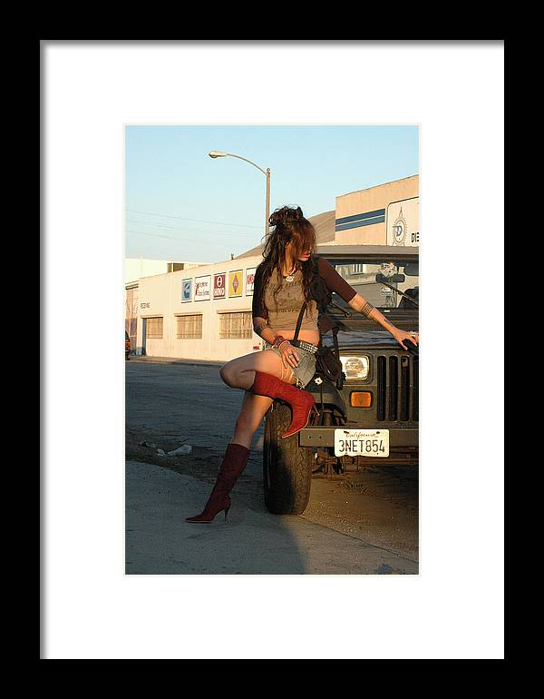 Photo Framed Print featuring the photograph Double Gun Gussied 120 by Liezel Rubin