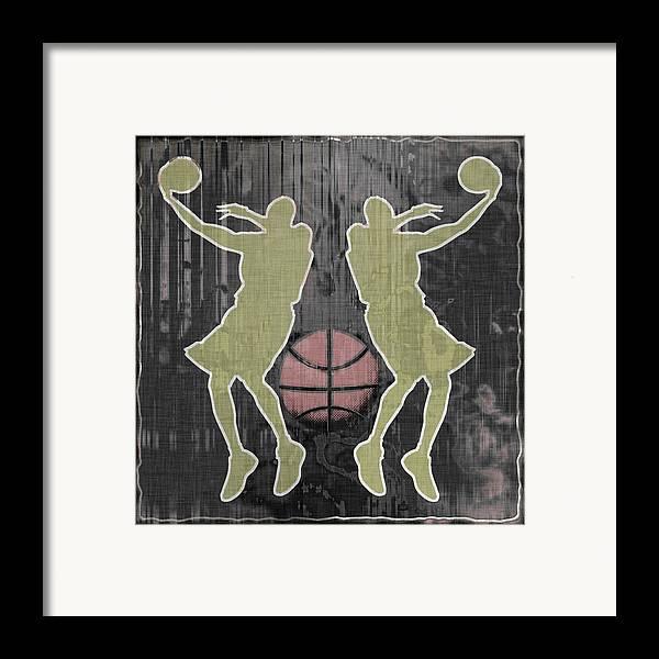Basketball Framed Print featuring the digital art Double Hook by David G Paul