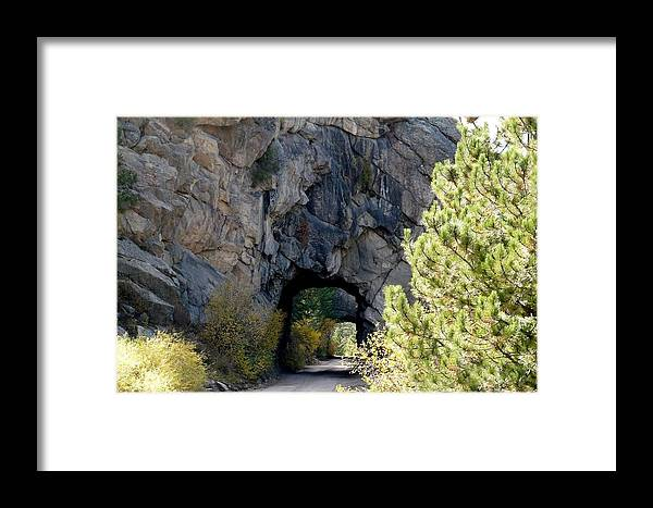 Colorado Framed Print featuring the photograph Double Tunnel - Eleven Mile Canyon by Marilyn Burton