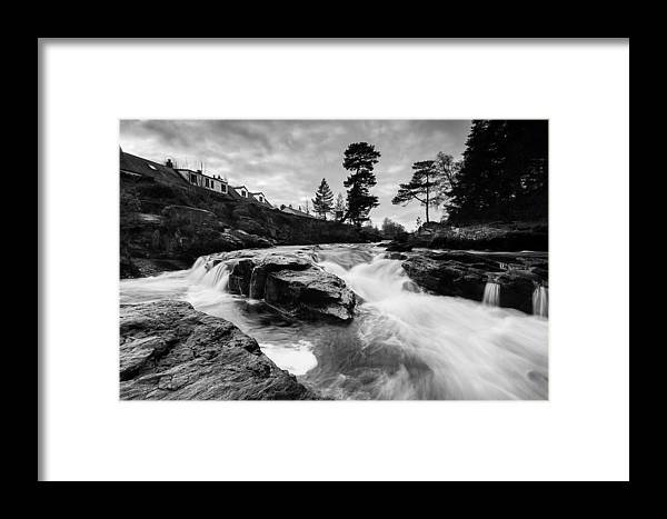 Dochart Framed Print featuring the photograph Douchart Falls by Keith Thorburn LRPS AFIAP CPAGB