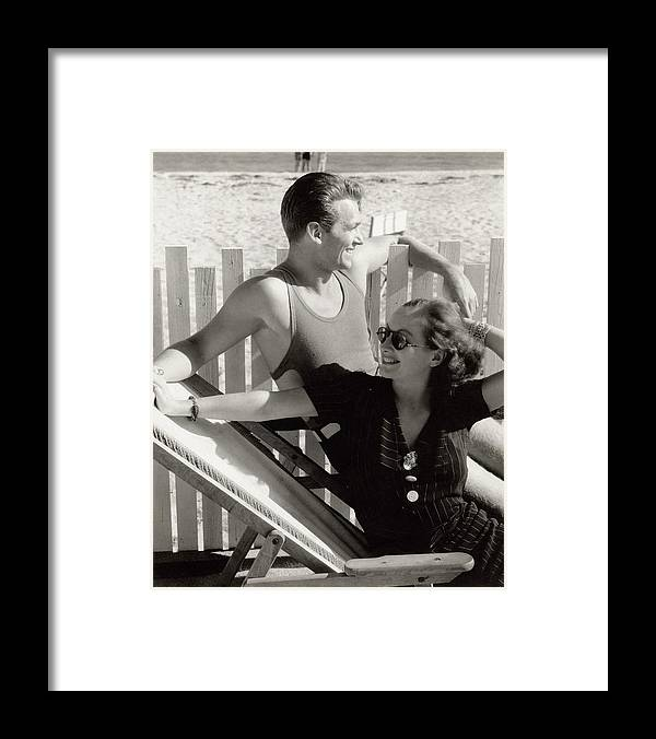 Actor Framed Print featuring the photograph Douglas Fairbanks Jr. With Joan Crawford by Edward Steichen