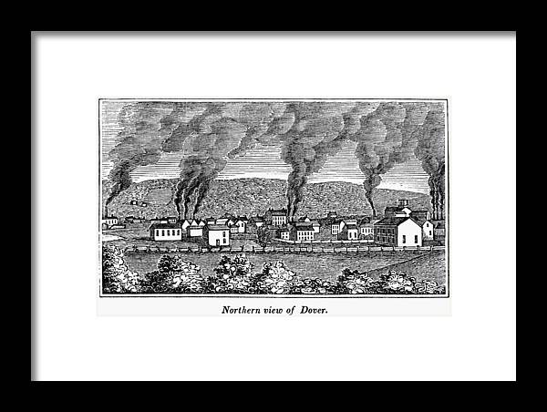 1844 Framed Print featuring the painting Dover, New Jersey, 1844 by Granger