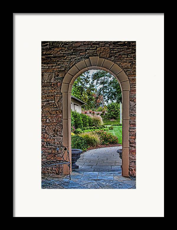 Garden Framed Print featuring the photograph Down The Garden Path by Lara Ellis