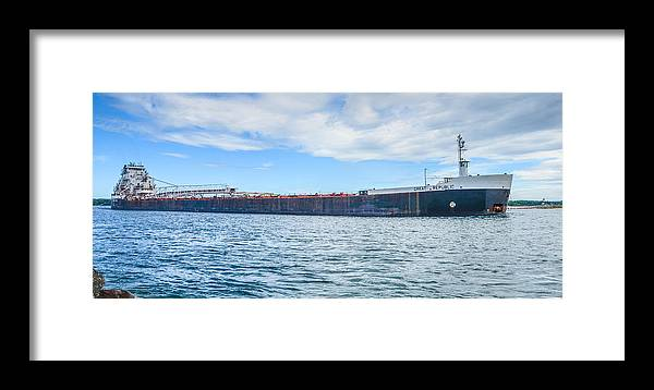Christopher List Framed Print featuring the photograph Downbound At Mission Point 2 by Gales Of November