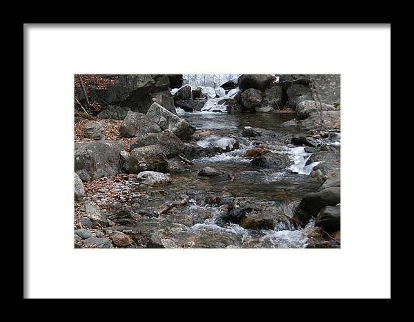 Water Framed Print featuring the photograph Downstream by Debbie Westermeyer