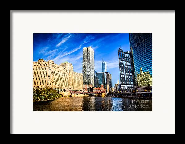 America Framed Print featuring the photograph Downtown Chicago At Franklin Street Bridge Picture by Paul Velgos