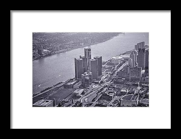 Renaissance Center Framed Print featuring the photograph Downtown Detroit by Nicholas Grunas