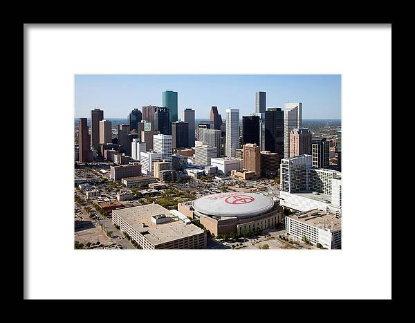 Houston Framed Print featuring the photograph Downtown Houston by Bill Cobb