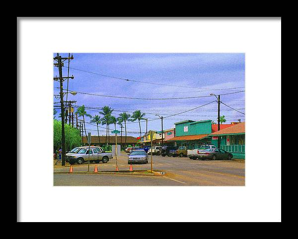 James Temple Photography Framed Print featuring the photograph Downtown Kaunakakai by James Temple