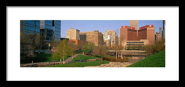 Photography Framed Print featuring the photograph Downtown Omaha Ne by Panoramic Images