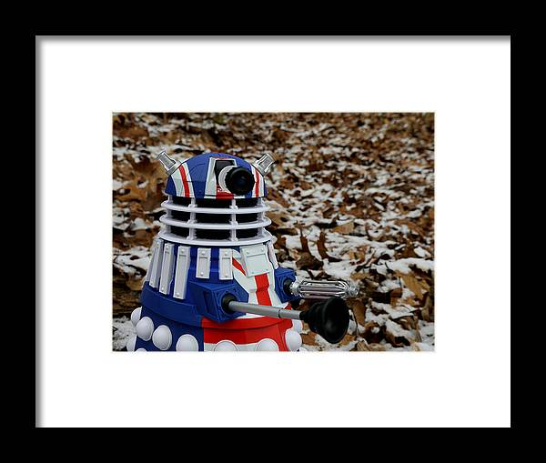 Dalek Framed Print featuring the photograph Dr Who - Forest Dalek by Richard Reeve