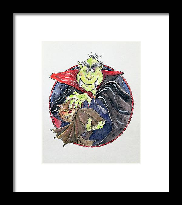 Dracula Framed Print featuring the painting Dracula by Maylee Christie