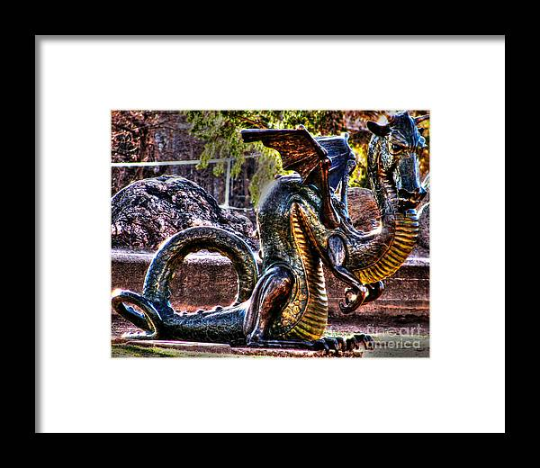 Dragon Framed Print featuring the photograph Dragon by Steven Parker