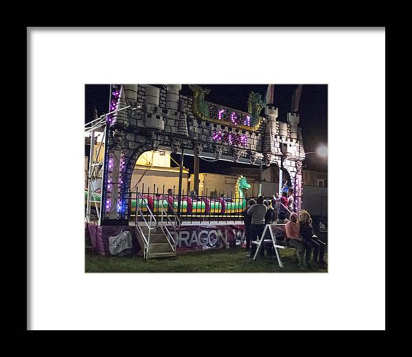 Carnival Framed Print featuring the photograph Dragon Wagon by Lois Johnson