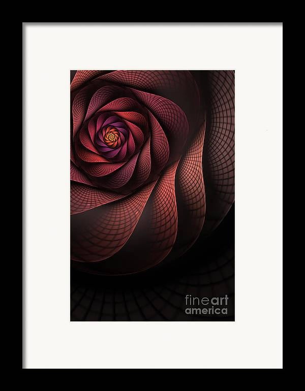 Heart Of The Dragon Framed Print featuring the digital art Dragonheart by John Edwards