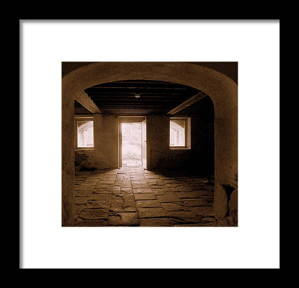 Drayton Framed Print featuring the photograph Drayton Hall Basement by Randall Weidner