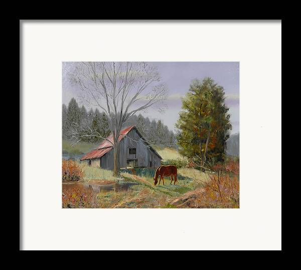 Landscape Framed Print featuring the painting Dream Acres by Tommy Thompson