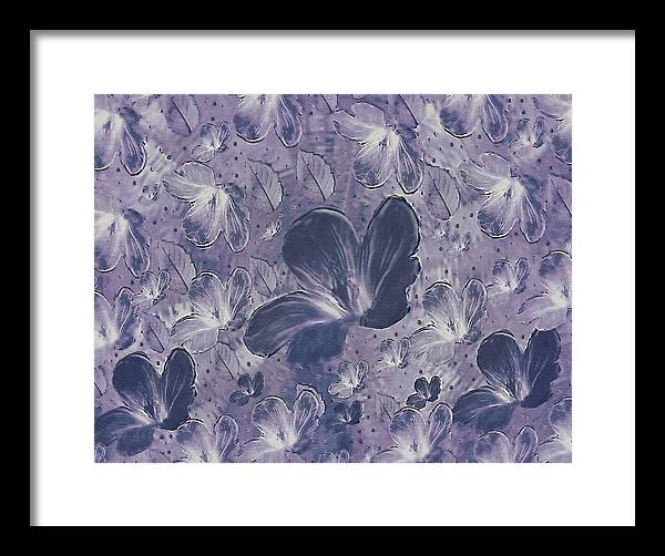 Landscape Framed Print featuring the mixed media Dream On In Purple by Pepita Selles
