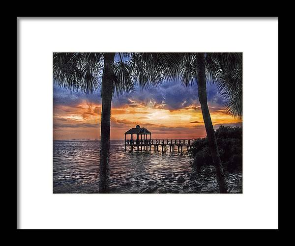 Pier Framed Print featuring the photograph Dream Pier by Hanny Heim