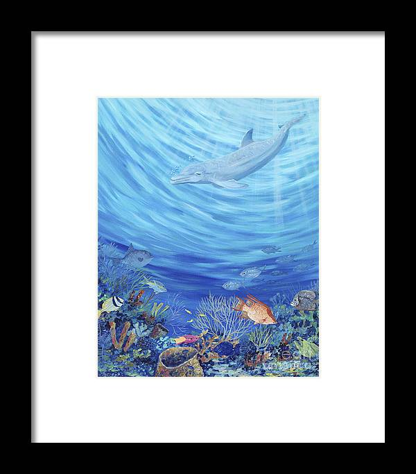 Florida Framed Print featuring the painting Dream Reef by Danielle Perry