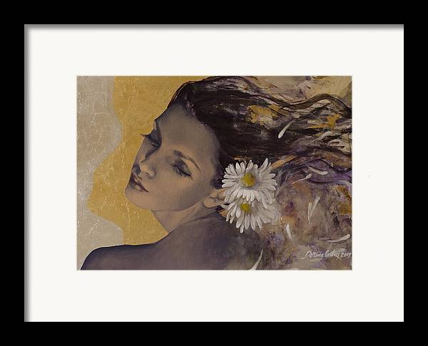 Art Framed Print featuring the painting Dream Traveler by Dorina Costras