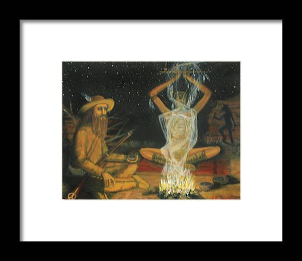 Original Framed Print featuring the painting Dream Weaver by Larry Lamb