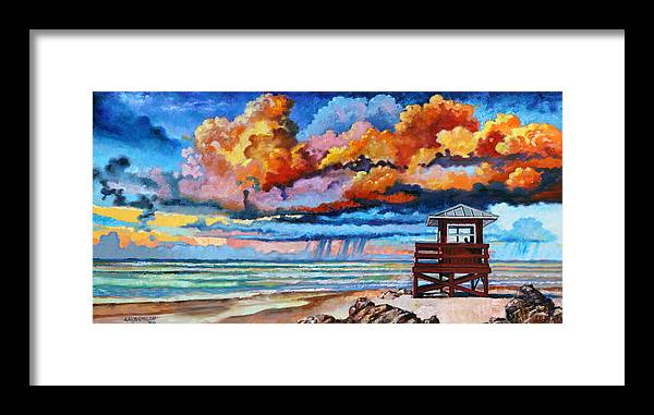Ocean Framed Print featuring the painting Dreaming of Siesta Key by John Lautermilch