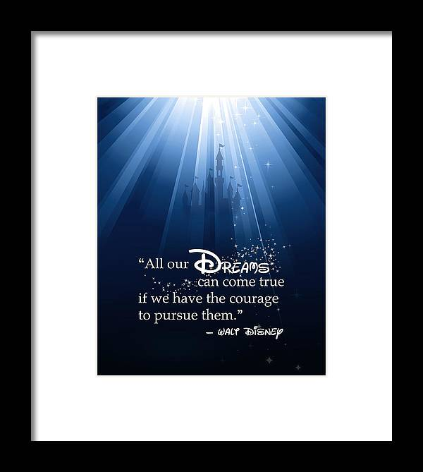 Disney Framed Print featuring the digital art Dreams Can Come True by Nancy Ingersoll