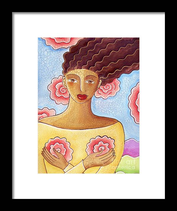 Figurative Framed Print featuring the painting Dreams by Elaine Jackson