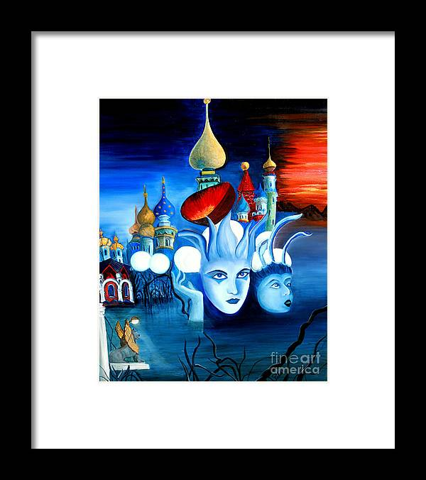 Surrealism Framed Print featuring the painting Dreams by Pilar Martinez-Byrne