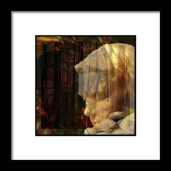Of Lucid Dreams / Dreamscape 3 Framed Print featuring the digital art Of Lucid Dreams / Dreamscape 3 by Elizabeth McTaggart